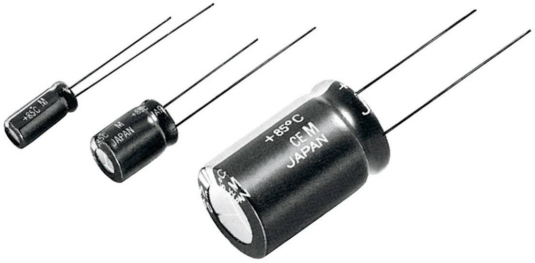 Kondenzátor elektrolytický Panasonic ECA1JM101, 100 mF, 63 V, 20 %, 11,5 x 8 mm