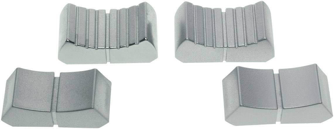 Posuvný gombík ALPS 76655, (d x š) 12 mm x 26 mm, velúr chróm (hladký), 1 ks