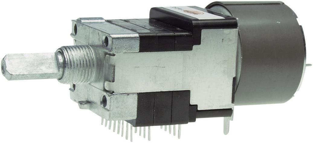 Motorový potenciometer prachotesný stereo ALPS RK16816MG 10KDX6 401951, 0.05 W, 10 kOhm, 1 ks