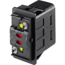 Kolébkový přepínač do auta Marquardt 3250.0163, 24 V/DC, 10 A, bez aretace, IP66 / IP67, 1 ks