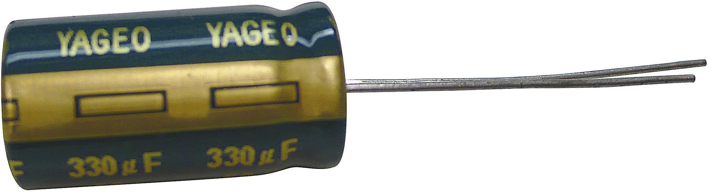 Kondenzátor elektrolytický Yageo SJ050M0120C5SL-0815, 120 µF, 50 V, 20 %, 15 x 8 mm