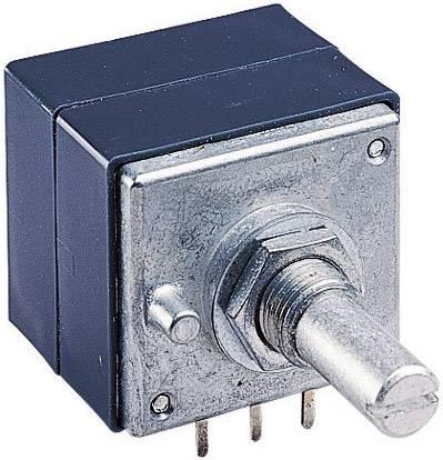 Otočný potenciometer prachotesný, s drážkou stereo ALPS RK27112 10KBX2CC 186354, 0.05 W, 10 kOhm, 1 ks