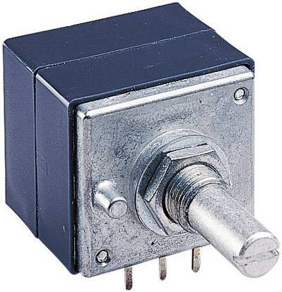 Otočný potenciometer prachotesný stereo ALPS RK27112 500KAX2 401502, 0.05 W, 500 kOhm, 1 ks