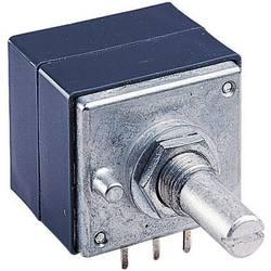 Stereo potenciometr s kovovou osou ALPS, 186354, 10 kΩ, 0,05 W , 0,05 W