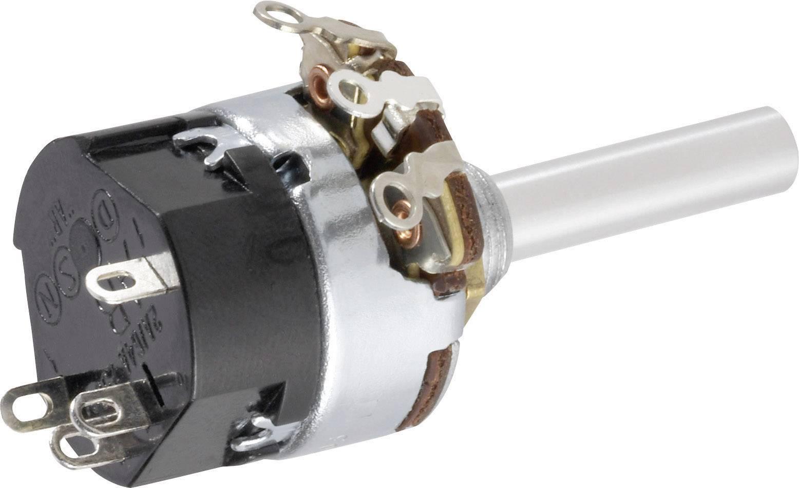 Otočný potenciometer so spínačom mono TT Electronics AB 104701780 104701780, 0.5 W, 1 kOhm, 1 ks