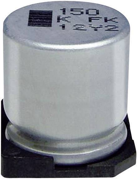 SMD kondenzátor elektrolytický Panasonic hliník EEVFK1V152M, 1500 µF, 35 V, 20 %, 16,5 x 16 mm