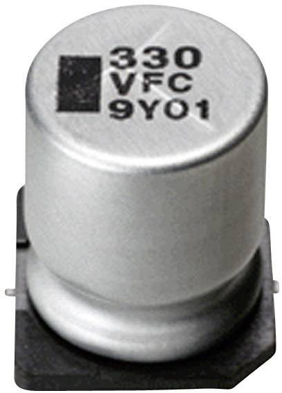 SMD kondenzátor elektrolytický Panasonic hliník EEEFC0J220R, 22 µF, 6,3 V, 20 %, 5,4 x 4 mm