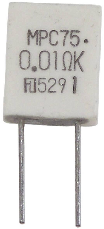 Metalizovaný rezistor MPC75 5W 0,01 Ohm 10%, 0.01 Ω, MPC75, 5 W, 10 %