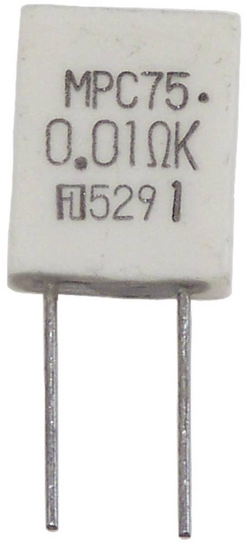 Metalizovaný rezistor MPC75 5W 0,05 Ohm 10%, 0.05 Ω, MPC75, 5 W, 10 %