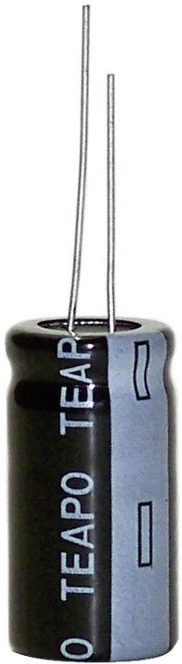 Elektrolytický kondenzátor Teapo KSH477M063S1G5L25K, radiálne vývody, 470 µF, 63 V, 20 %, 1 ks