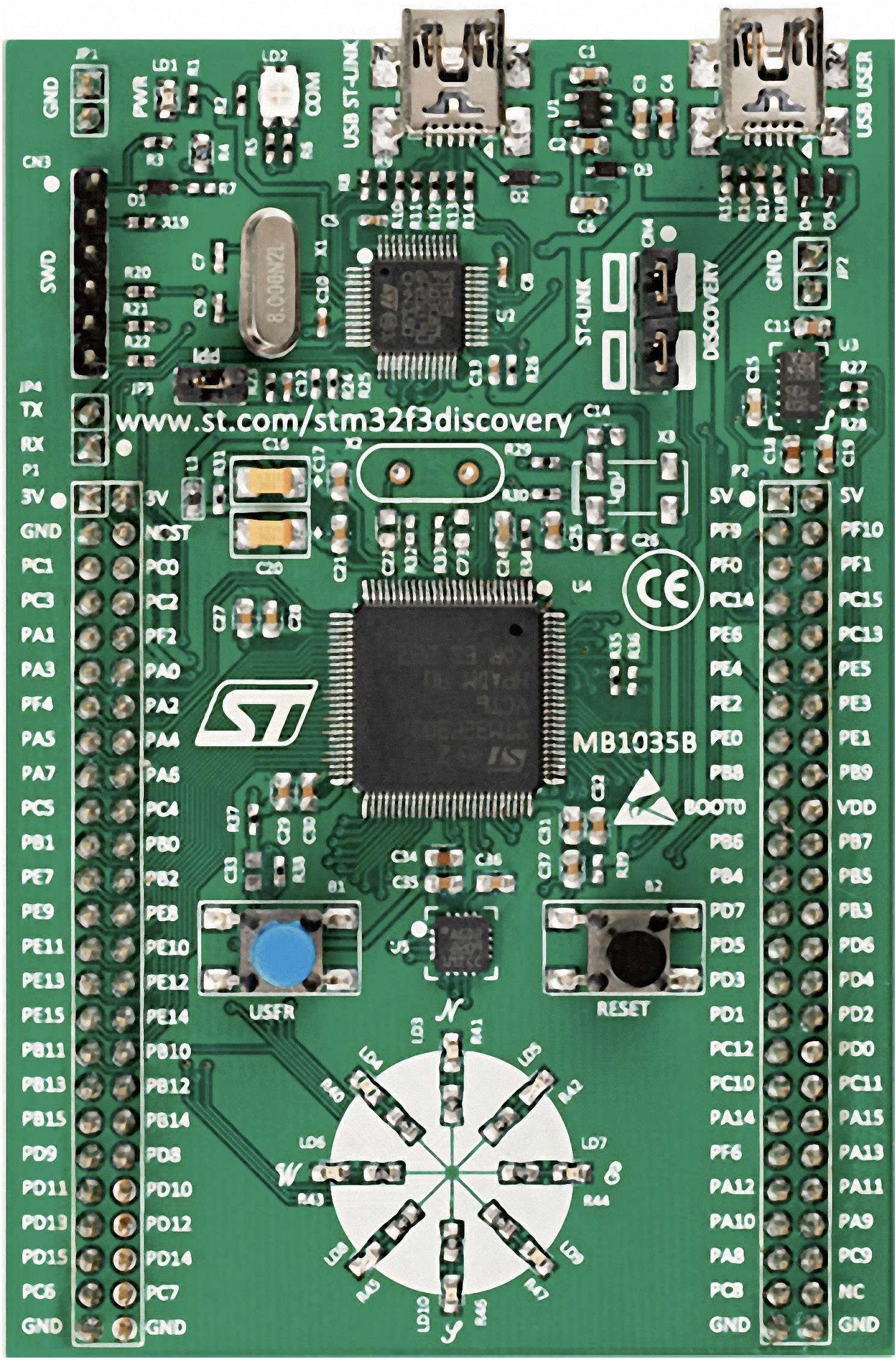 Vývojová deska STMicroelectronics STM32F3 DISCOVERY pro STM32 sérii F3