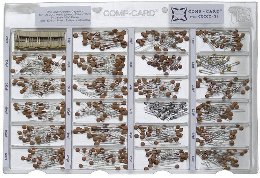 Sada keramických kondenzátorů SMD NOVA by Linecard COCCC-31, 100 V, 1 sada