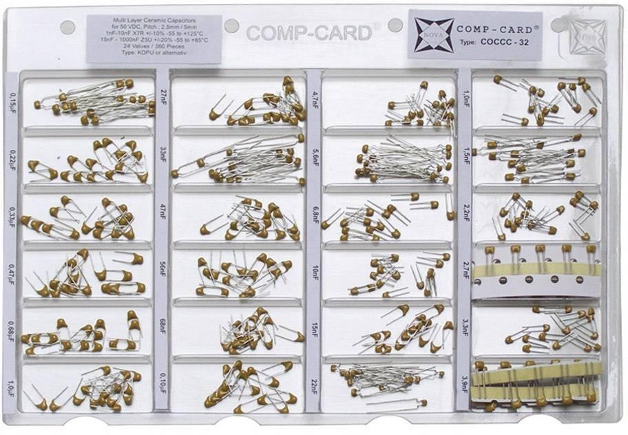 Sada keramických kondenzátorů SMD NOVA by Linecard COCCC-32, 50 V, 1 sada