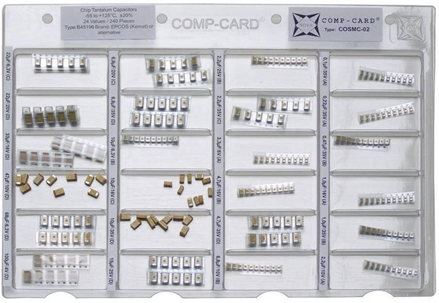SMD Tantalový kondenzátor COSMC-02, 1 Set