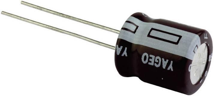 Kondenzátor elektrolytický Yageo SE025M0220A5F-0811, 220 µF, 25 V, 20 %, 12,5 x 8 mm