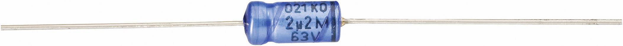 Elektrolytický kondenzátor Vishay 2222 021 38108, axiálne vývody, 1 µF, 63 V, 20 %, 1 ks