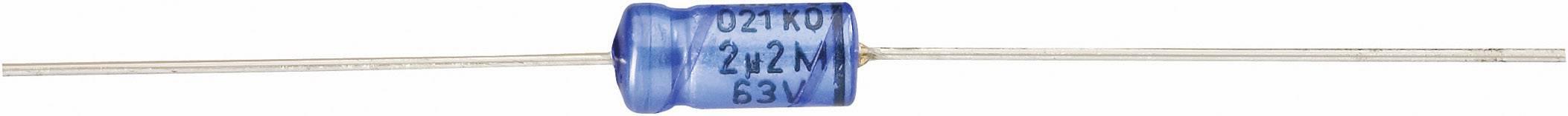 Elektrolytický kondenzátor Vishay 2222 021 38109, axiálne vývody, 10 µF, 63 V, 20 %, 1 ks