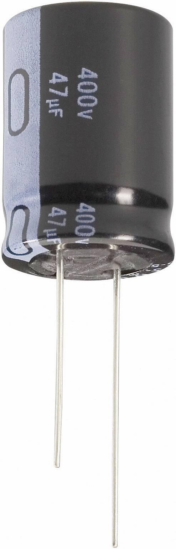Elektrolytický kondenzátor Jianghai ECR2GLK100MFF501020, radiálne vývody, 10 µF, 400 V, 20 %, 1 ks