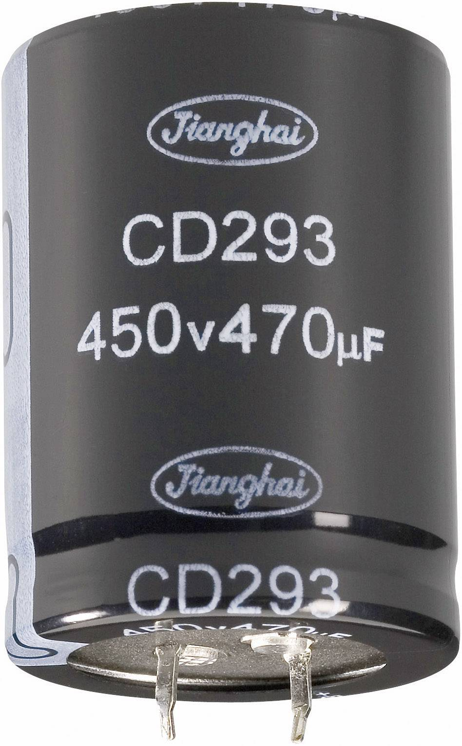 Elektrolytický kondenzátor Jianghai ECS2WBW331MT6P23540, 10 mm, 330 µF, 450 V, 20 %, 1 ks