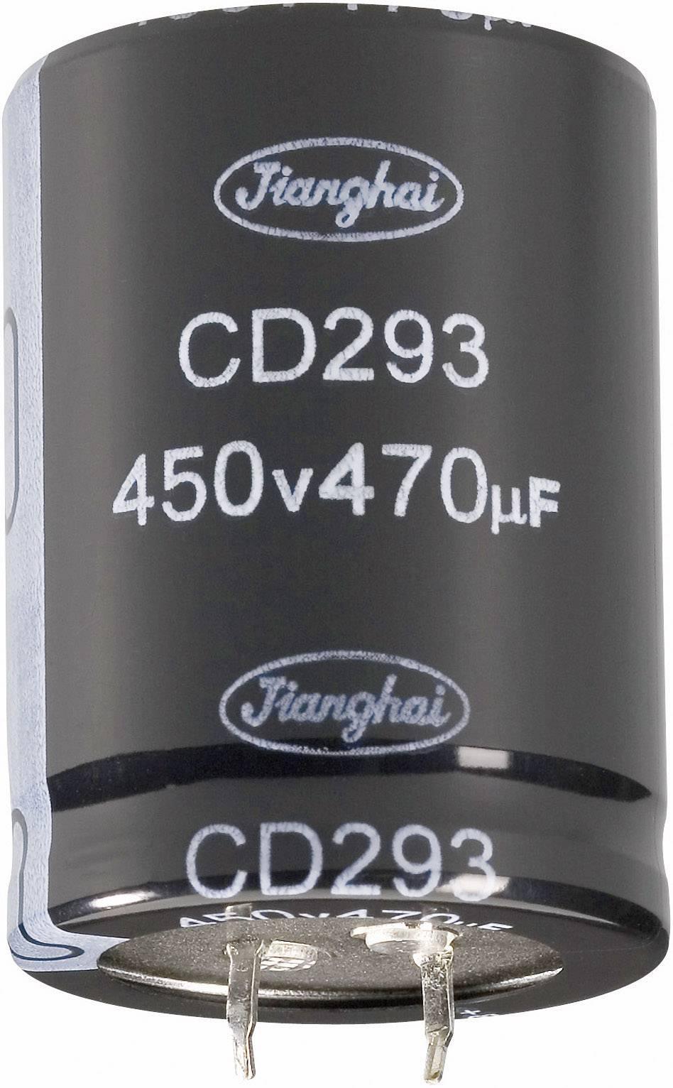 Elektrolytický kondenzátor Jianghai ECS2WBW471MT6P23550, Snapln, 470 µF, 450 V, 20 %, 1 ks