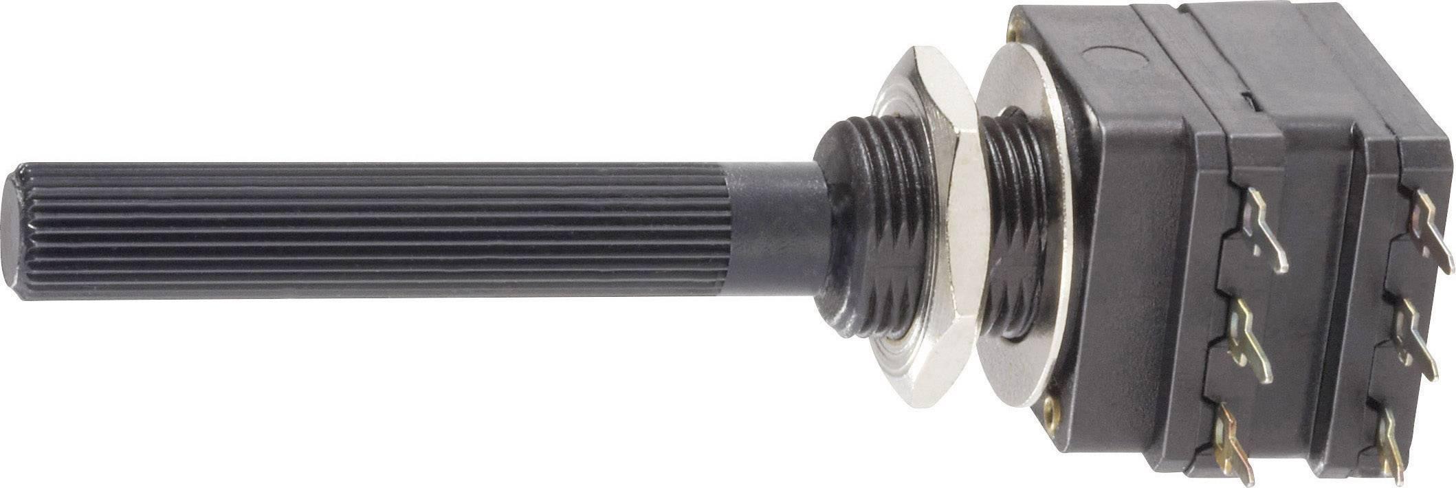 Otočný potenciometer stereo Piher PC16DH-10IP06105A2020MTA PC16DH-10IP06105A2020MTA, 0.2 W, 1 MOhm, 1 ks