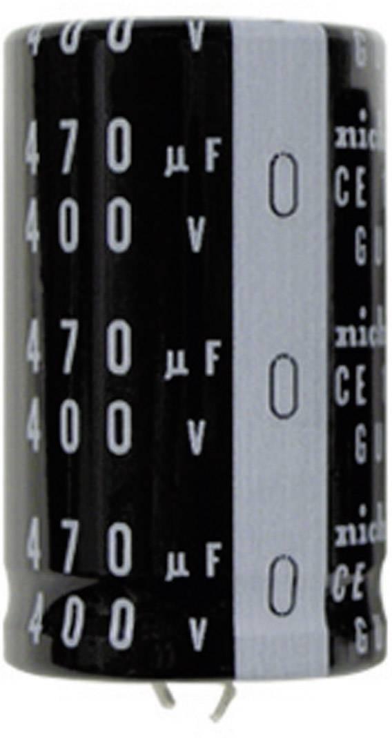 Snap In kondenzátor elektrolytický Nichicon LGU1E472MELZ, 4700 µF, 25 V, 20 %, 25 x 22 mm