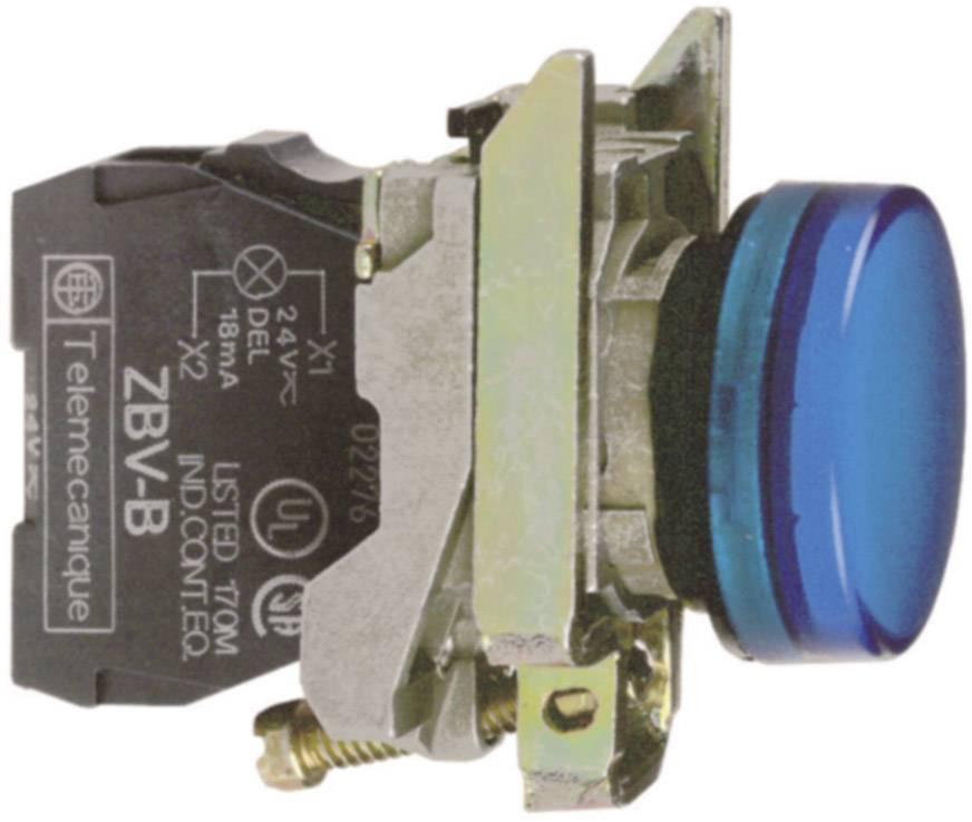 Signálka Schneider Electric XB4BVB6, 22,5 mm, šroubovací, modrá