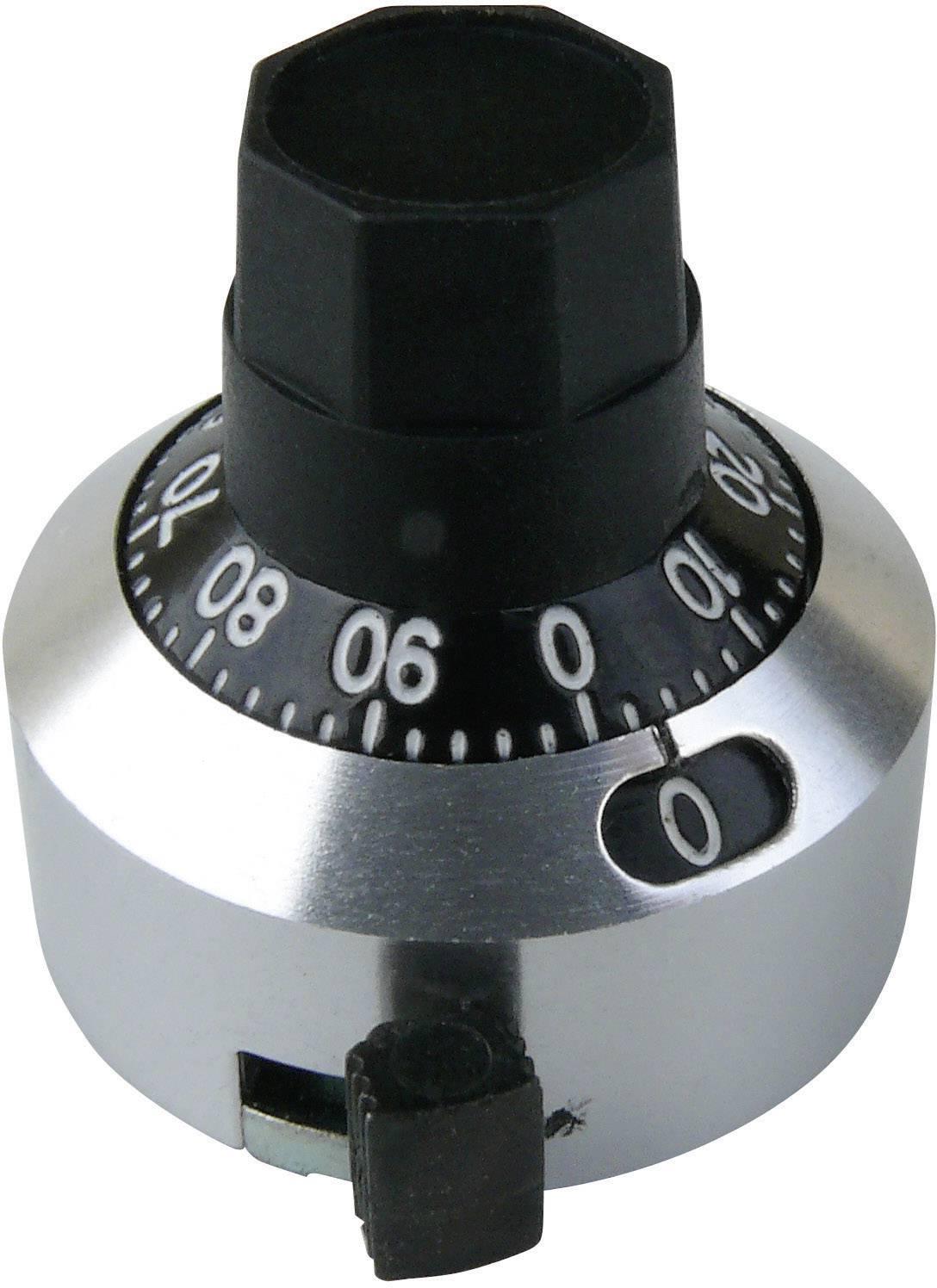 Otočný knoflík s počítadlem Bourns H-22-6A, 6,35 mm, 10 otáček