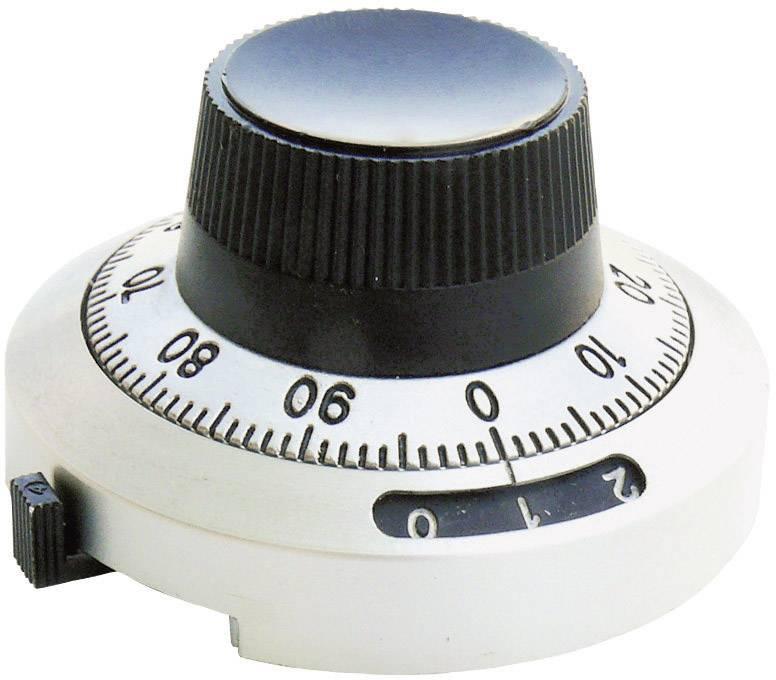 Otočný knoflík s počítadlem Bourns H-46-6A, 6,35 mm, 20 otáček