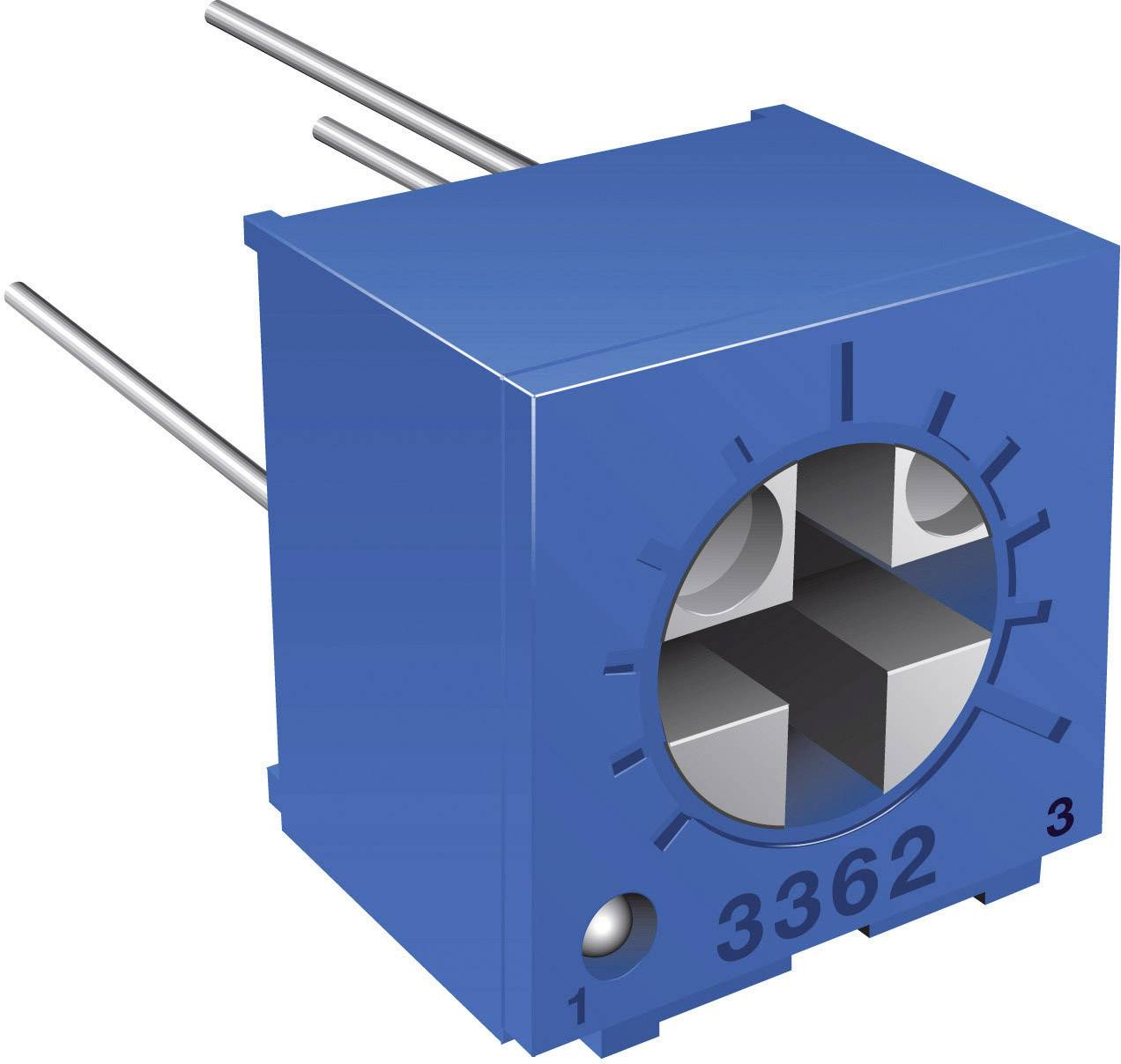 Odporový trimr Bourns, 3362P-1-501LF, 500 Ω, 0,5 W, ± 10 %