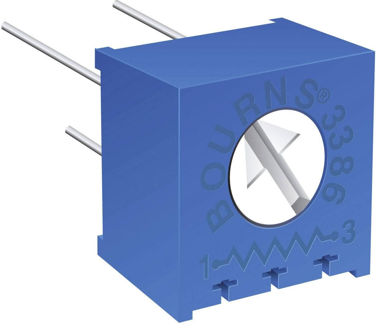 Odporový trimr Bourns, 3386P-1-205LF, 2 MΩ, 0,5 W, ± 10 %