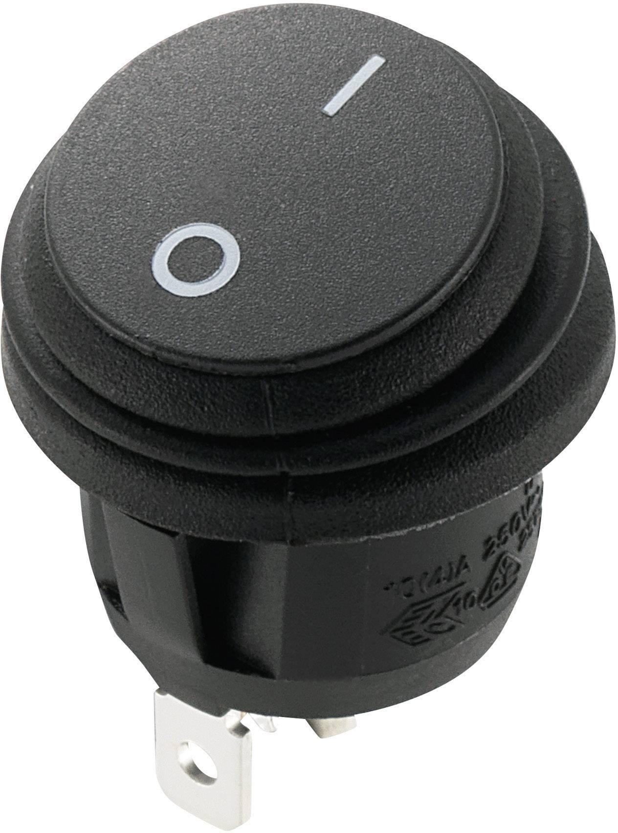 Kolískový spínač s aretáciou SCI R13-112A8-02, 250 V/AC, 10 A, 1x vyp/zap, 1 ks