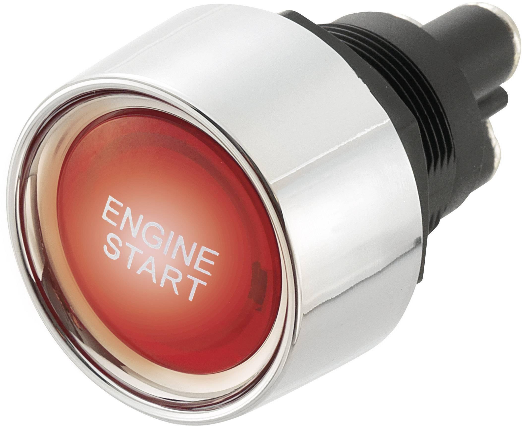 Tlačítko do auta SCI A2-23B-07, 24 V/DC, 25 A, bez aretace, 1 ks