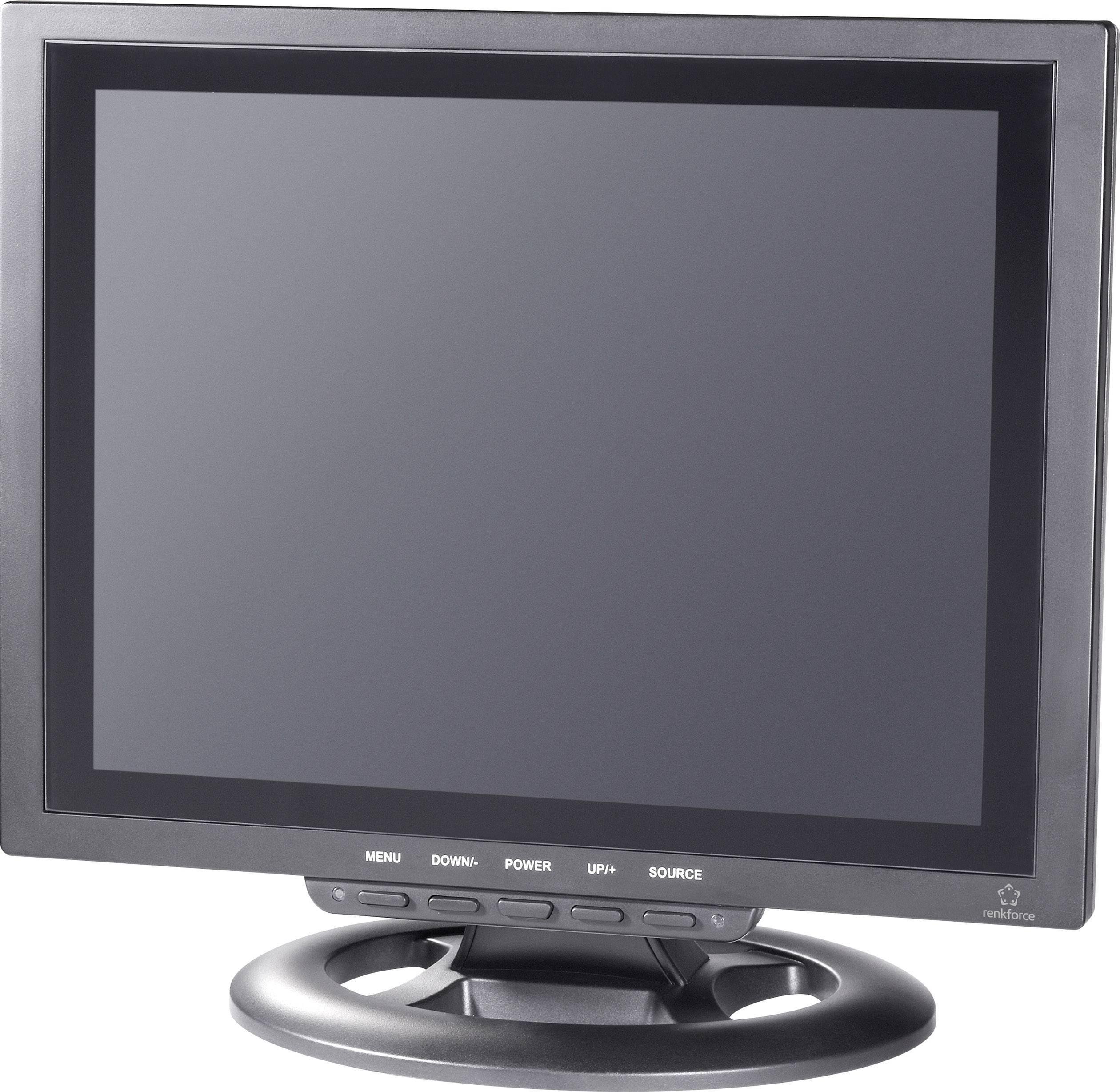 "LCD monitor Renkforce 449238, 30.48 cm (12 ""), čierna"