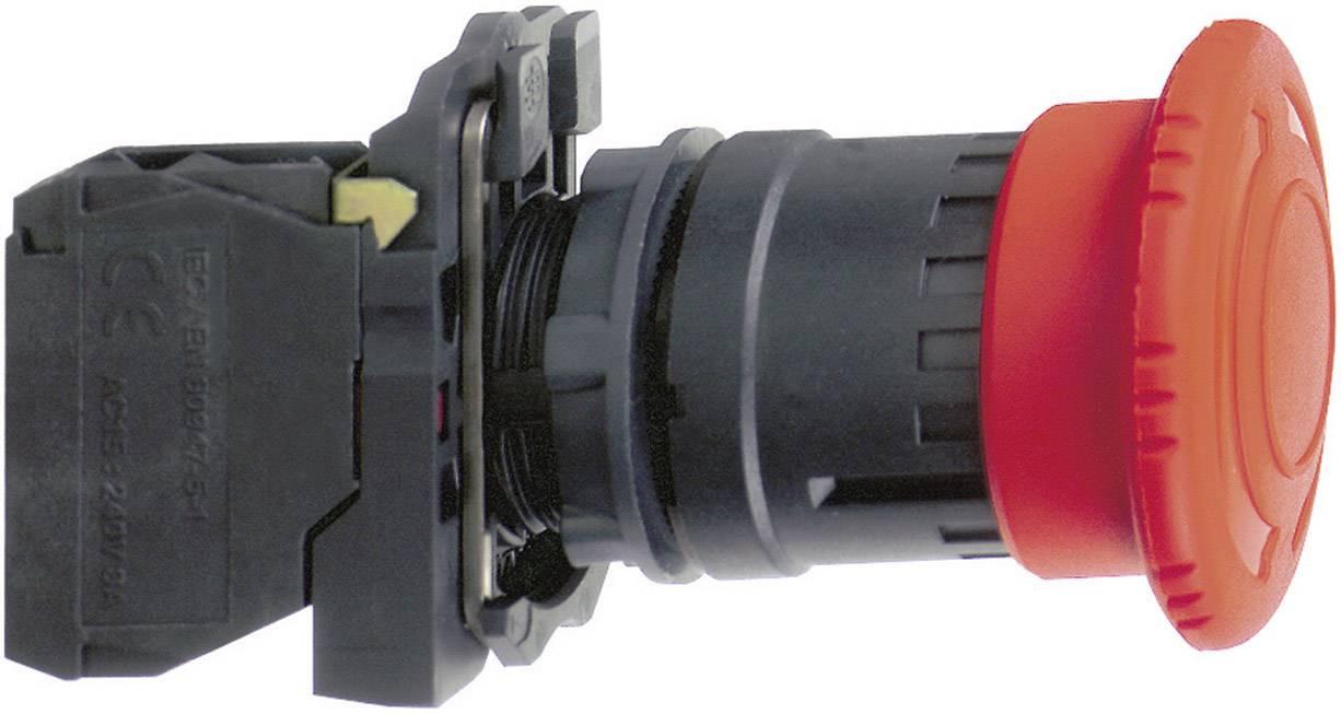 Nouzové tlačítko Schneider Electric XB5AT845, 22,5 mm, 240 V/AC, 3 A, červená