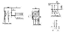 Lineární potenciometr 16T 4008, 100k
