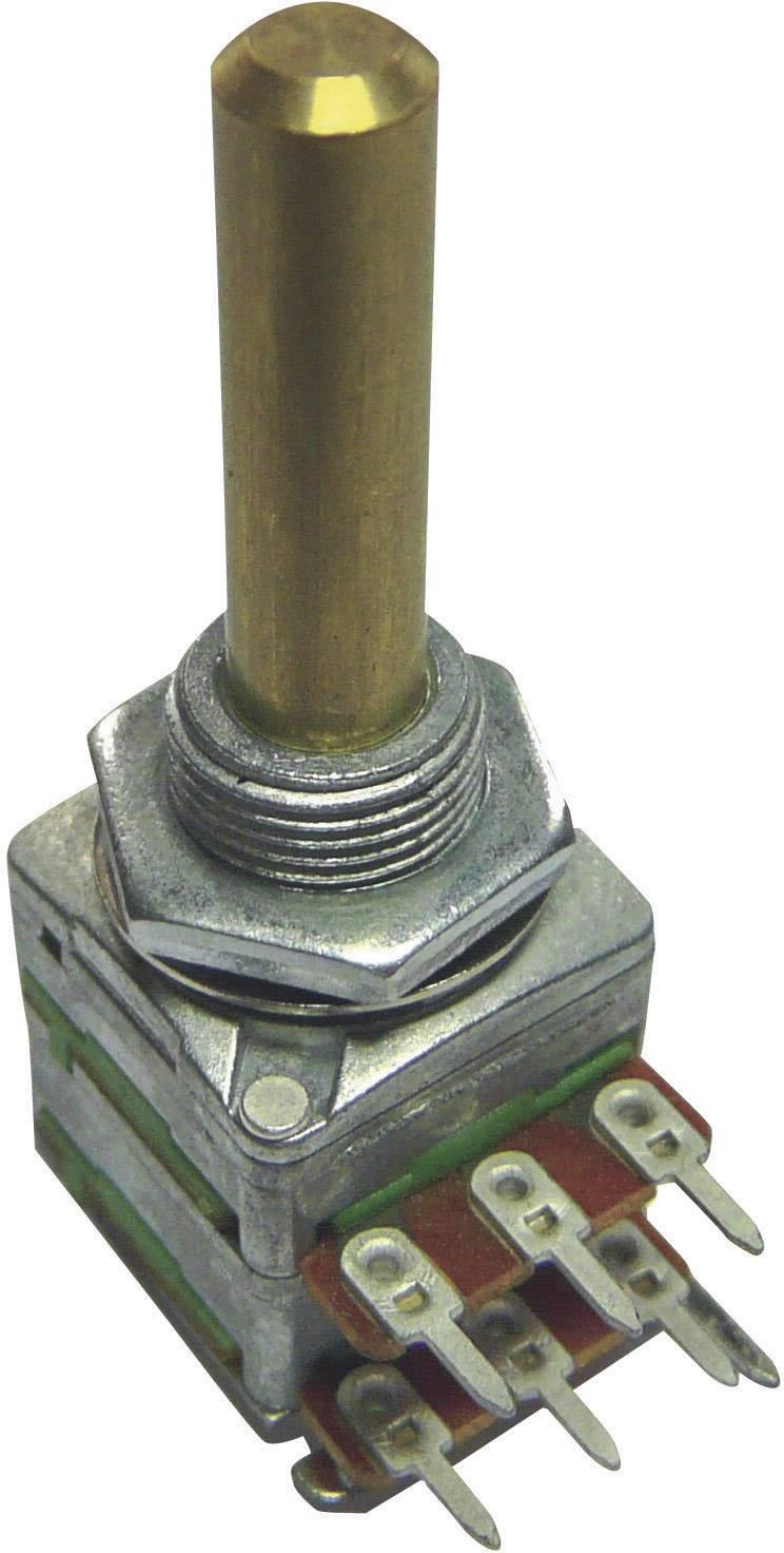 Otočný potenciometer stereo Potentiometer Service GmbH 4168 4168, 0.2 W, 100 kOhm, 1 ks