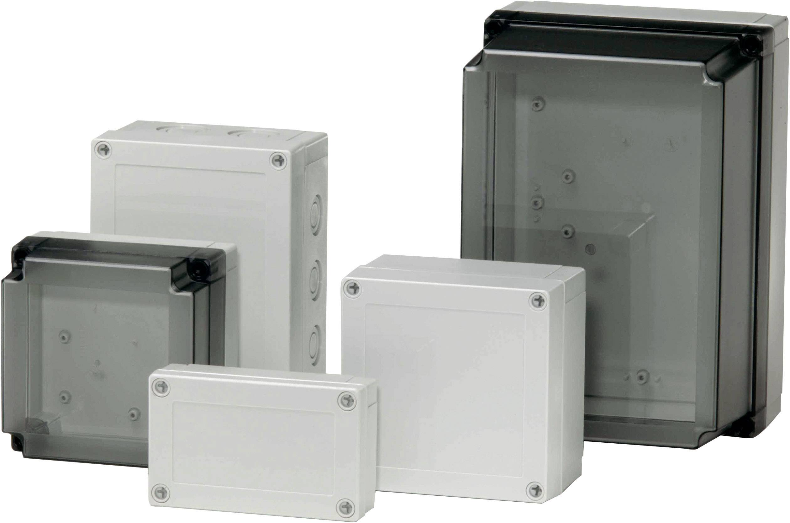 Polykarbonátové pouzdro MNX Fibox, (d x š x v) 130 x 130 x 125 mm, šedá (MNX PCM 125/125 T)