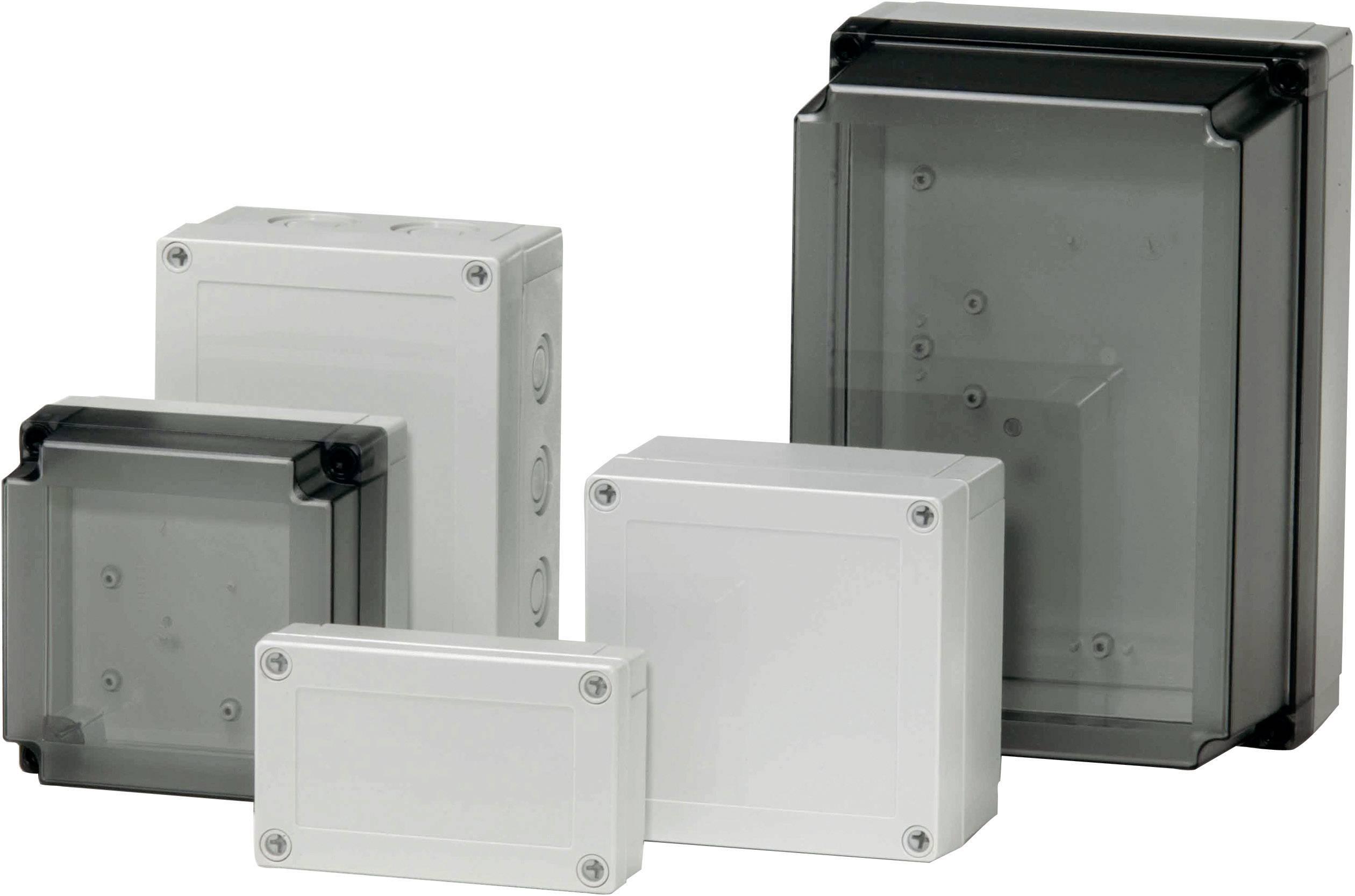 Polykarbonátové pouzdro MNX Fibox, (d x š x v) 130 x 130 x 75 mm, šedá (MNX PCM 125/75 G)