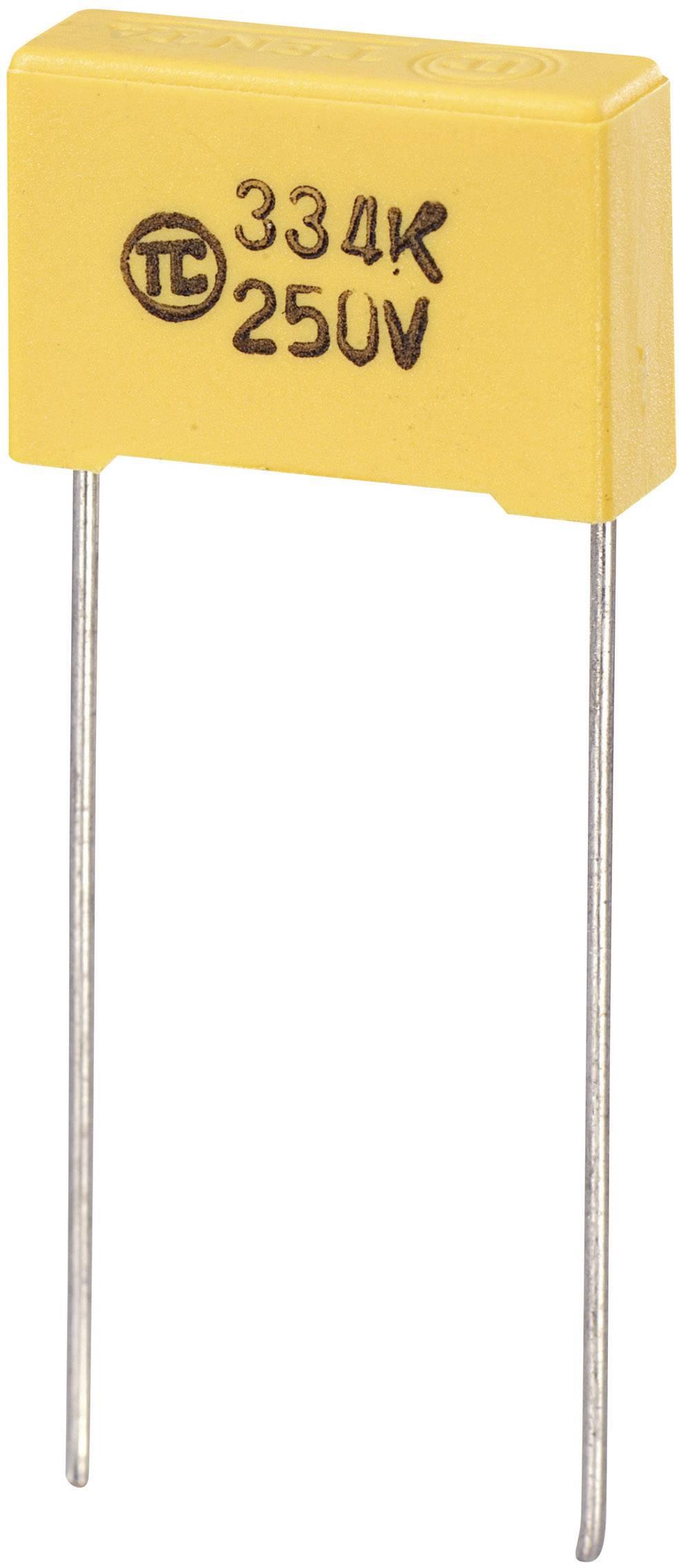 Fóliový kondenzátor MKS radiálne vývody, 0.047 µF, 630 V/DC,5 %, 15 mm, (d x š x v) 18 x 6 x 12 mm, 1 ks