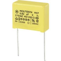 Odrušovací kondenzátor MKP-X2 TRU COMPONENTS MKP-X2 radiální, 0.82 µF, 275 V/AC,10 %, 22.5 mm, (d x š x v) 26 x 11 x 20 mm, 1 ks
