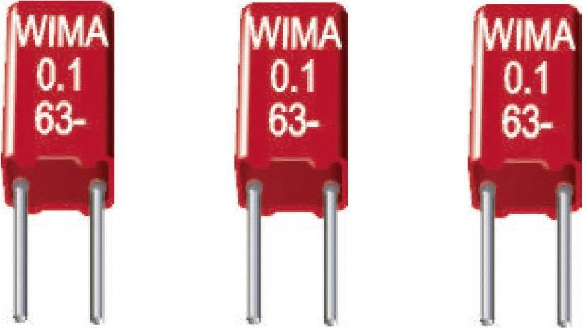 Fóliový kondenzátor MKS Wima MKS 02 1uF 10% 50V RM2,5 radiálne vývody, 1 µF, 50 V/DC,10 %, 2.5 mm, (d x š x v) 4.6 x 5.5 x 10 mm, 1 ks