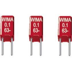 Fóliový kondenzátor MKS Wima MKS0C031000C00KSSD radiálne vývody, 0.1 µF, 63 V/DC,20 %, 2.5 mm, (d x š x v) 4.6 x 3 x 7.5 mm, 1 ks