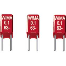 Fóliový kondenzátor MKS Wima MKS0C033300D00KSSD radiálne vývody, 0.33 µF, 63 V/DC,10 %, 2.5 mm, (d x š x v) 4.6 x 3.8 x 8.5 mm, 1 ks