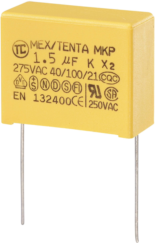 Foliový kondenzátor MKP, 1,5 µF, X2 280 V/AC, 10 %, 32 x 15 x 25 mm