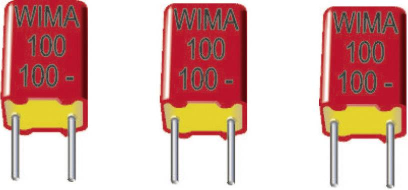 Fóliový FKP kondenzátor Wima FKP2J021001L00HSSD radiálne vývody, 0.01 µF, 630 V/DC,2.5 %, 5 mm, (d x š x v) 7.2 x 8.5 x 10 mm, 1 ks