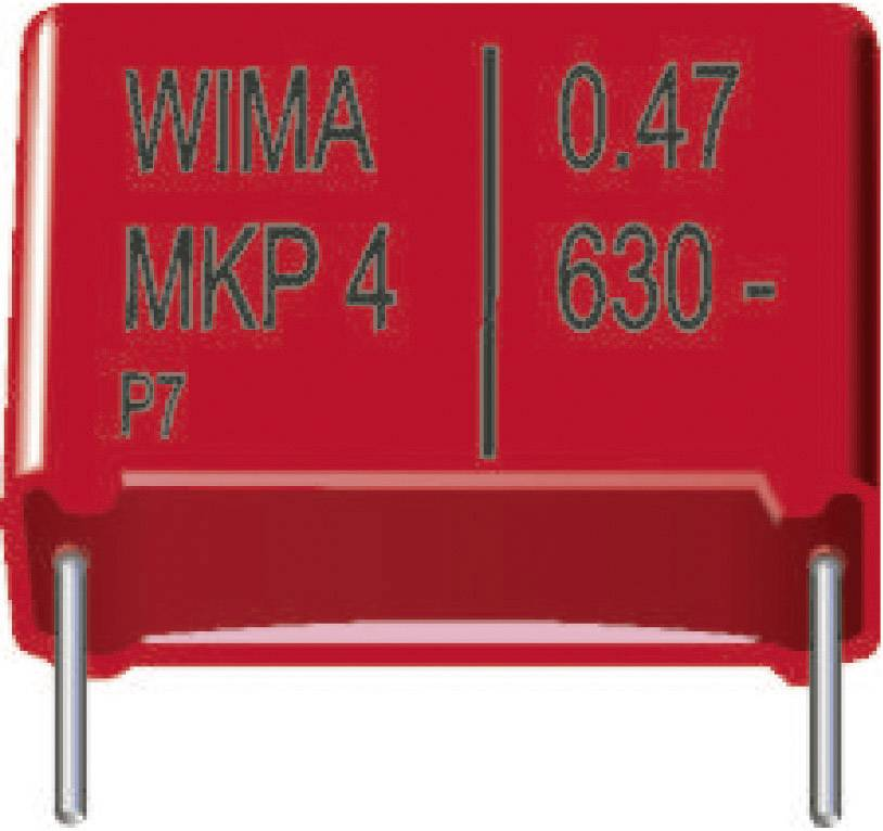 Fóliový kondenzátor MKP Wima MKP4G041005I00KSSD radiálne vývody, 1 µF, 400 V/DC,20 %, 22.5 mm, (d x š x v) 26.5 x 11 x 21 mm, 1 ks