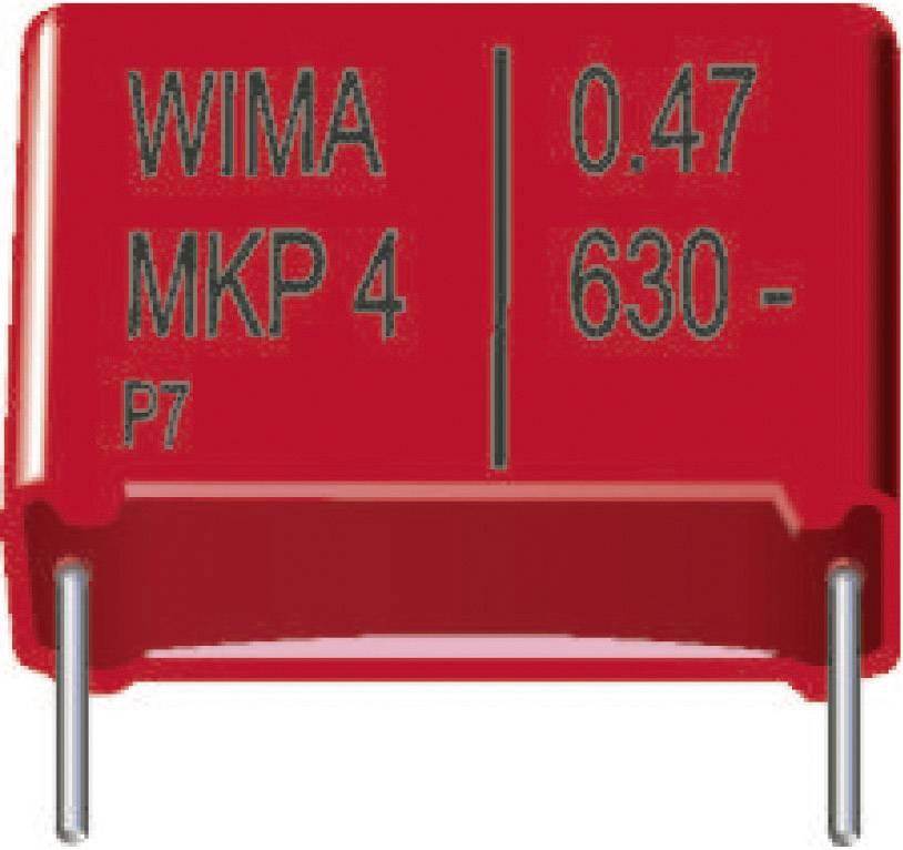 Fóliový kondenzátor MKP Wima MKP4J031004D00KSSD radiálne vývody, 0.1 µF, 630 V/DC,20 %, 15 mm, (d x š x v) 18 x 7 x 14 mm, 1 ks