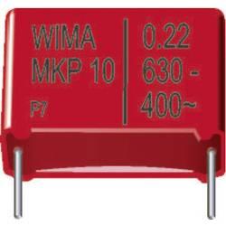 Fóliový kondenzátor MKP Wima MKP1J031005D00KSSD radiálne vývody, 0.1 µF, 630 V/DC,20 %, 22.5 mm, (d x š x v) 26.5 x 7 x 16.5 mm, 1 ks