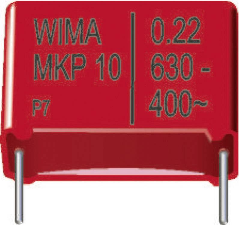 Foliový kondenzátor MKP Wima, 0,15 µF, 630 V, 20 %, 26,5 x 8,5 x 18,5 mm